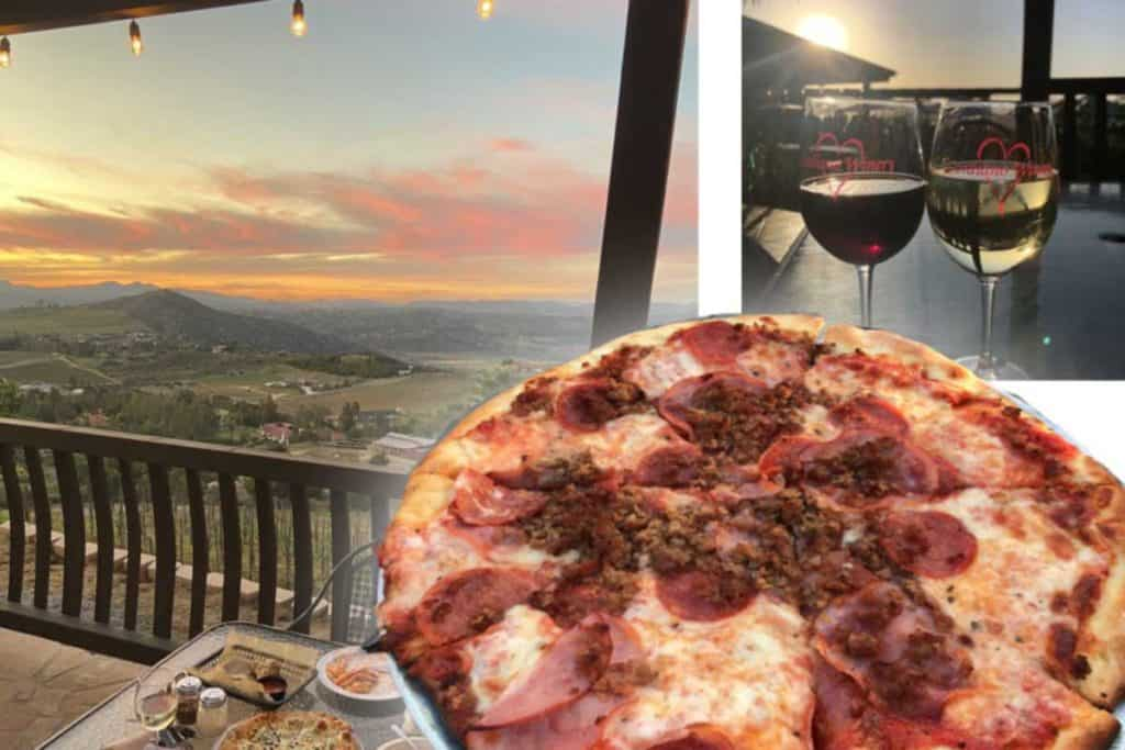 Cordiano Winery a restaurant close to San Diego Safari Park. Great views, pizza and wine.