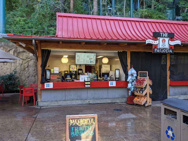 The Pagoda at San Diego Zoo. Snacks & beverages.