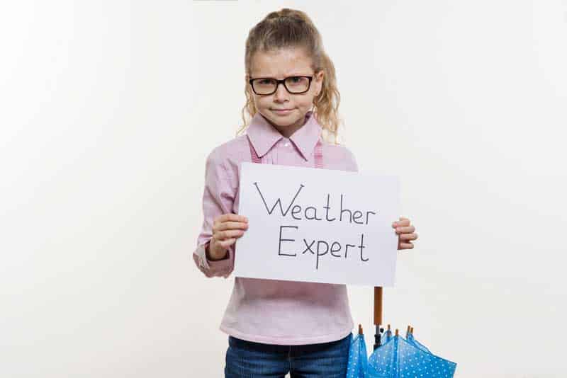 A typical San Diego TV weather expert...just kidding.