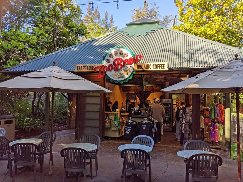 Zoo Brew at the San Diego Zoo. Coffee and local craft beer in the Lost Forest