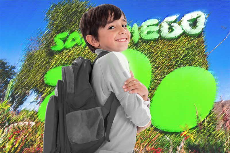 You can bring backpacks of all sizes into San Diego Zoo