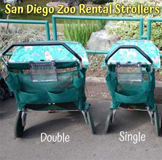 You can bring your baby stroller into the San Diego Zoo or rent them there.