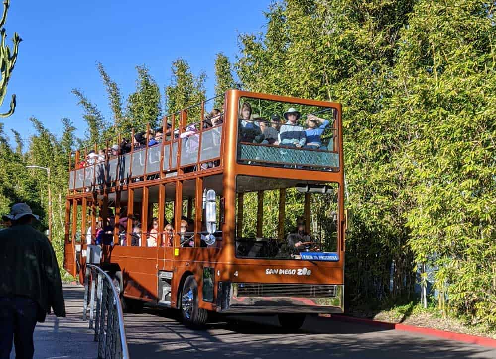 Guided Tour Bus at San Diego Zoo