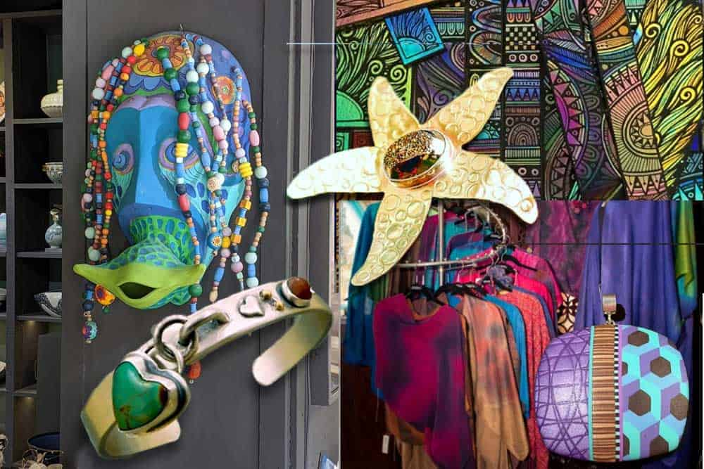Spanish Village in Balboa Park is a shoppers paradise! Jewelry, glass, clothing, sculpture.