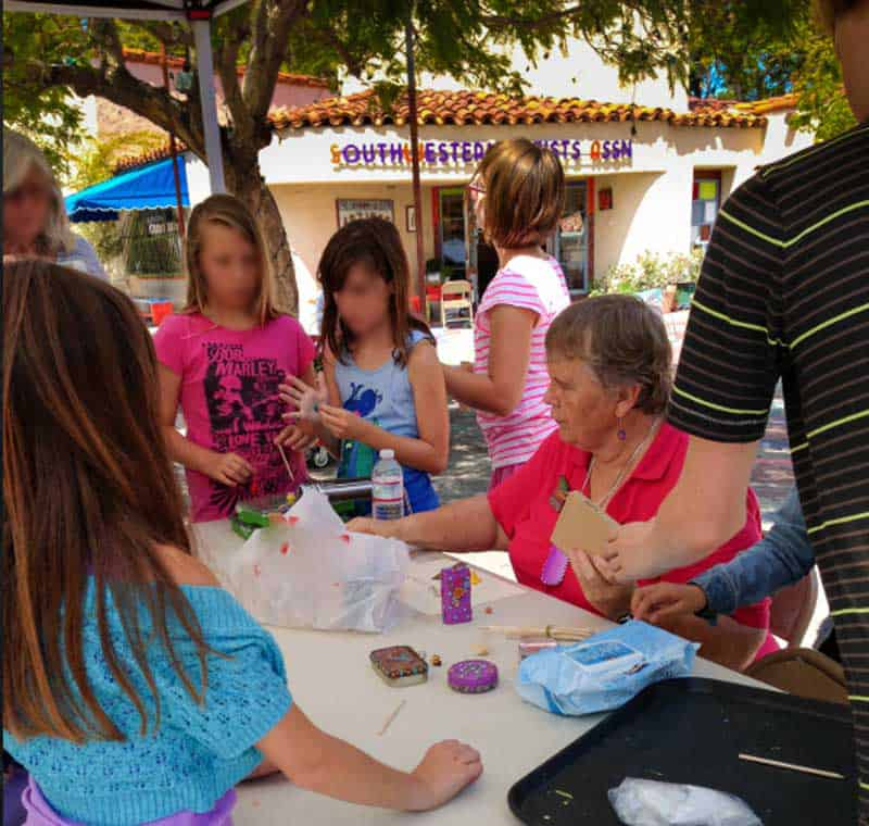 Spanish Village Art Classes in Balboa Park. For kids and Adults.