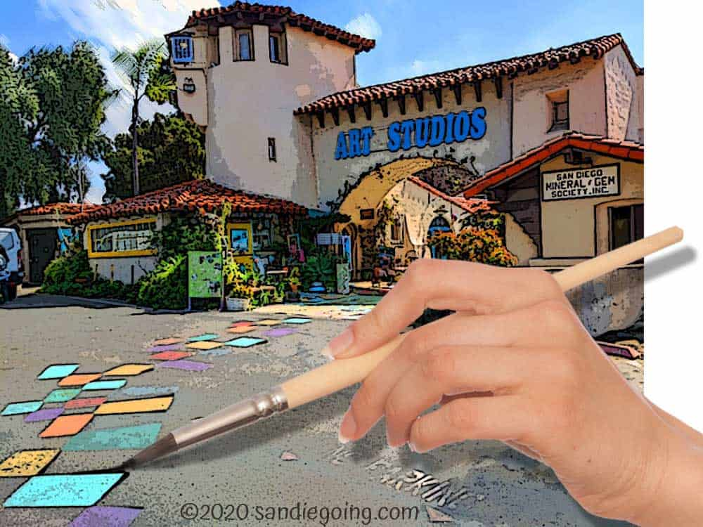 Things to see & do at Spanish Village in Balboa Park - try your hand at art