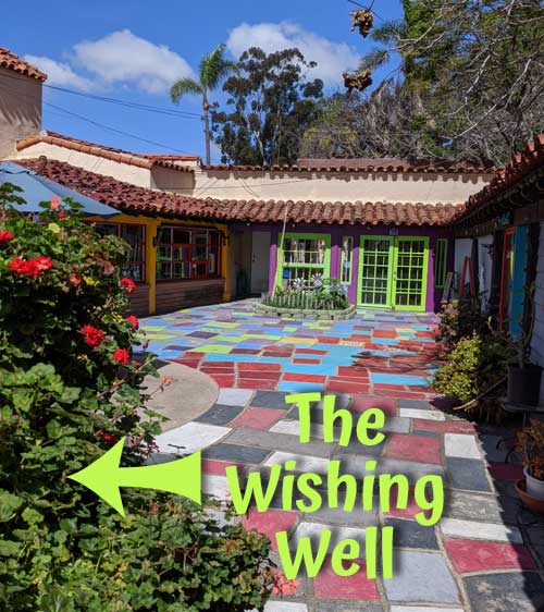 Spanish Village in Balboa Park - the wishing well. In the courtyard where studios 24 through 27 are located.