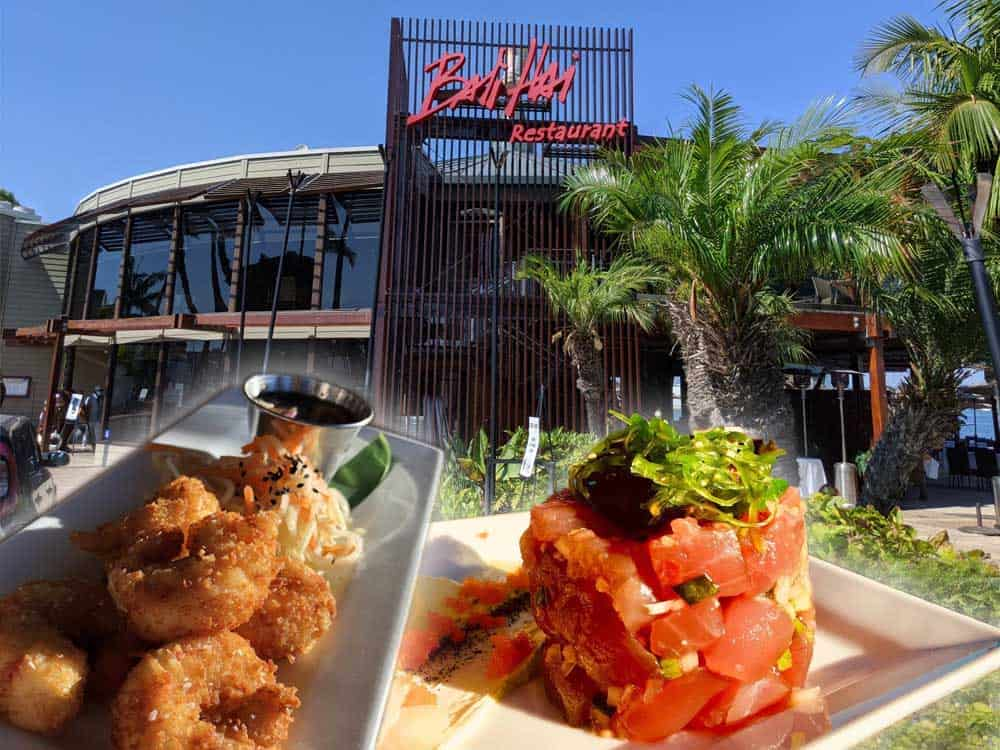 Bali Hai is located on Shelter Island and is nearby Cabrillo National Monument. Popular dishes include Coconut Shrimp and Ahi Poki Tuna Appetizer.