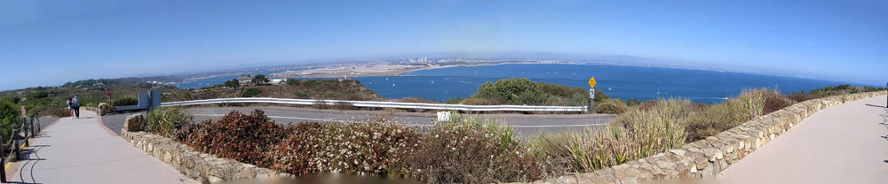 Cabrillo National Monument panorama shot from road to the Old Lighthouse.