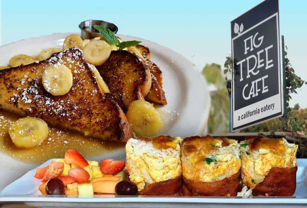 Fig Tree Cafe located close to Cabrillo National Monument in old Point Loma features Bananas Foster French Toast and Breakfast Sushi