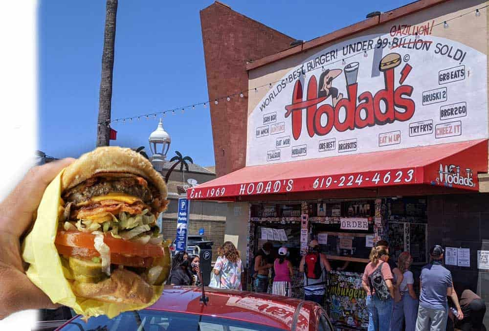 Hodad's has the best hamburgers close to Cabrillo National Monument.