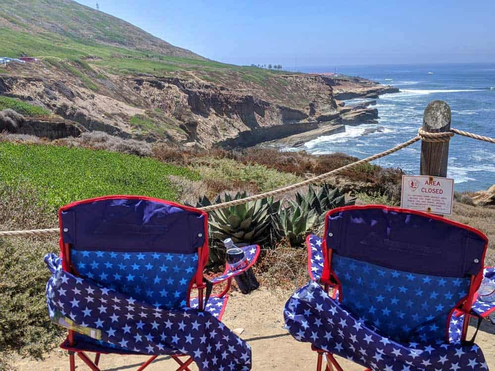 Perfect spot for a picnic at Cabrillo National Monument