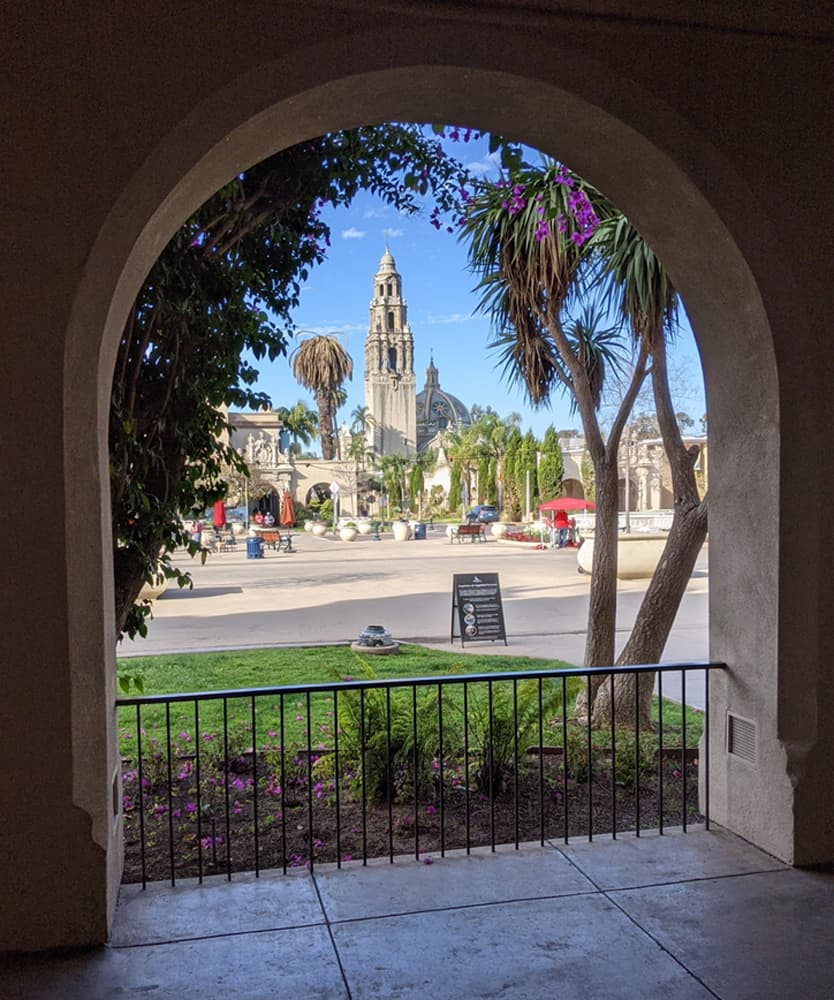 View of the Museum of Us (formerly the Museum of Man) from the Visitor's Center in Balboa Park